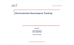Environmental Counterparty Tracking Services - Brochure