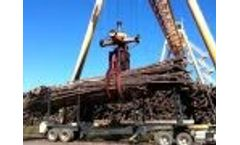 Mack ILGSCHCR-60 Hydraulic Log Grapple with log load chains - Video