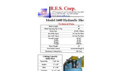 R.E.S. 1600 Hydraulic Alligator Shear - Brochure
