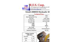 R.E.S. 2500HD Hydraulic Alligator Shear - Brochure