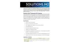 Solutions Now - GPS Asset Tracking and Data Integration Software - Brochure