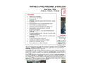Model PPVM Series - Portable or Fixed Personnel or Vehicle Monitor - Brochure