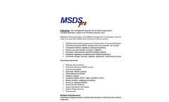 MSDSpro Enterprise Brochure