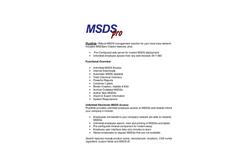MSDSpro PlusWeb Brochure