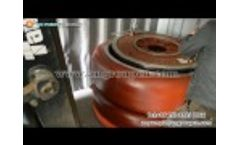 Gravel dredging pump and pump parts in on loading Video