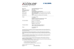 Albis - Model ABS A WT-79-4196 - Acrylonitrile/Butadiene/Styrene/Copolymer Plastic Brochure