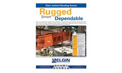 Elgin - Tabor Incline Vibrating Screen - Brochure