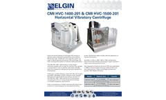CMI HVC-1400-201 & CMI HVC-1500-201Horizontal Vibratory Centrifuge - Brochure