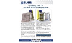 CMI HVC 1000-101Horizontal Vibratory Centrifuge - Brochure