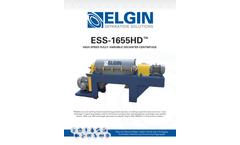 Elgin - Model ESS-1655HD2 - High Speed Fully–Variable Decanter Centrifuge - Brochure