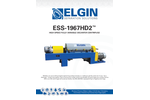 Elgin - Model ESS-1967HD2 - High Speed Fully- Variable Decanter Centrifuge - Cut Sheet