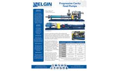 Elgin - Progressive Cavity Feed Pumps - Brochure