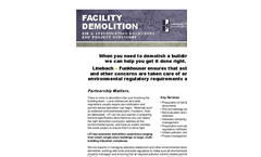 Facility Demolition Bid and Spec. Documents/Oversight Services- Brochure
