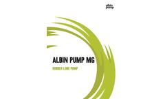 Albin Pump - Model MG - Rubber Lobe Pump - Brochure