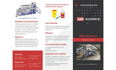 AMB Ecosteryl - Model 250 - Medical Waste Disposal Equipment - Brochure