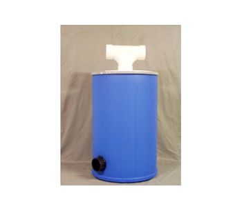 Sweet-Air - Model PE-200 - High-Density Polypropylene (HDPE) Drum Scrubber Unit