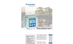 Oval Min-E - Local Display Unit Brochure