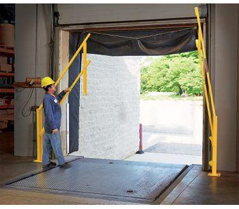 FabEnCo - Model DVG Series - Dual Vertical Lift Loading Dock Gates