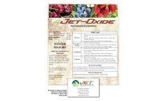 Jet-Oxide - 5% Industrial Sanitizer Brochure