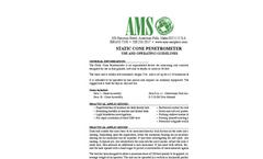 Static Cone Penetrometer - Technical Datasheet