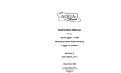 AquaLogger-7000 - Multiparameter Water Quality Logger & Utilities - Manual Rev C