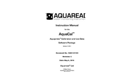 AquaCal Aquaprobe - Calibration and Live Data Software Package - Instruction Manual Rev C
