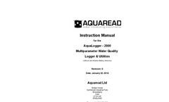AquaLogger - 2000 Multiparameter Water Quality Logger & Utilities - Manual Rev D