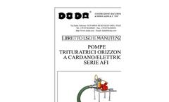 Doda - Model AFI - Horizontal Chopper Pumps - Manual