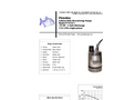Piranha - Model P-75-SS - Industrial Duty Dewatering Pump - Technical Datasheet