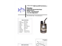 Piranha - Model P-75-SS - Industrial Duty Dewatering Pump - Technical Datasheet