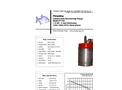 Piranha - Model P-150 60Hz - Industrial Duty Dewatering Pump - Technical Datasheet