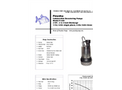 Piranha - Model P-200 - Industrial Duty Dewatering Pump - Technical Datasheet
