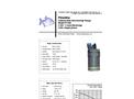 Piranha - Model P-300 60Hz - Industrial Duty Dewatering Pump - Technical Datasheet