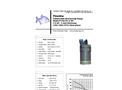 Piranha - Model P-450-HV 60Hz - Industrial Duty Dewatering Pump - Technical Datasheet