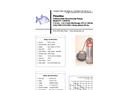 Piranha - Model P-1000-HV 50 Hz/P-1000-HH 50Hz - Industrial Duty Dewatering Pump - Technical Datasheet