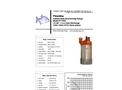 Piranha - Model P-1500-HV 60Hz/P-1500-HH 60Hz - Industrial Duty Dewatering Pump - Technical Datasheet