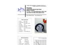 Piranha - Model P-1500-HV 50Hz/P-1500-HH 50Hz - Industrial Duty Dewatering Pump - Technical Datasheet