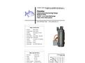 Piranha - Model P-4500-HV 60Hz/P-4500-HH 60Hz - Industrial Duty Dewatering Pump - Technical Datasheet