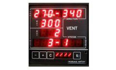 Degreane - Model INT300 - Wind and Atmospheric Pressure Digital Display Indicators
