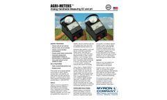 Myron L - Agri-Meters - Analog Handhelds Measuring EC And pH - Datasheet