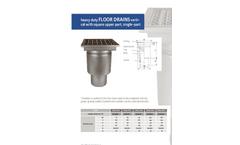 Heavy Duty Floor Drain System Brochure