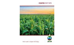Chapin - Drip Tape Products Brochure