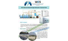 WCS - Advanced Hybrid Wastewater Treatment Plant Brochure