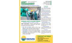 SEMS - Utility Asset Management Software Solutions (CMMS) - Brochure