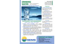 SEMS - Version LIMS - Drinking Water Data Management Software - Brochure